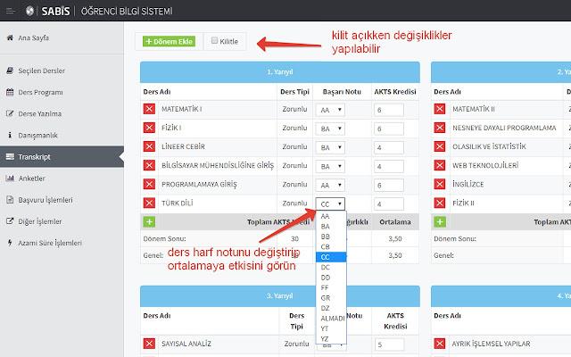 SABİS Transkript Editörü
