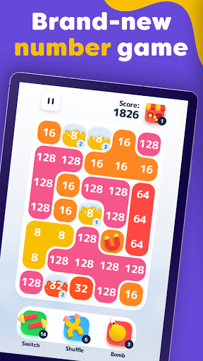 LAVA - Merge Number Blocks with 2048 game screenshot 5
