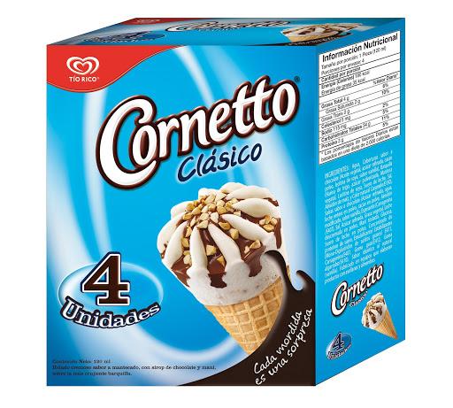 helado multipak cornetto clasico x120ml x4und