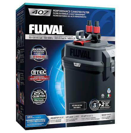 Fluval 407 1450l/h 20W Ytterfilter