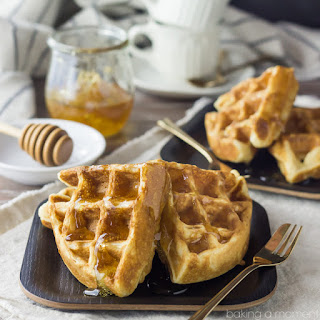 Whole Wheat Greek Yogurt Freezer Waffles