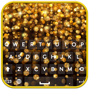 Golden Glitter Keyboard