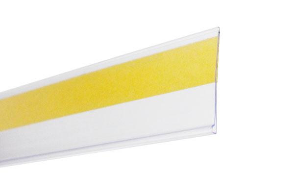 flejera porta precio plana con adhesivo LAB43 para góndola