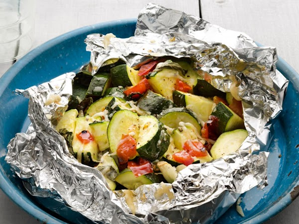 Zucchini And Tomatoes Foil Packets Recipe