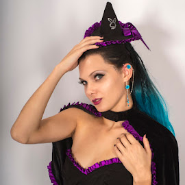 Playboy Witch by Kens Yeaglin - Public Holidays Halloween ( studio, halloween, zoevandolof, witch, hat, cute,  )