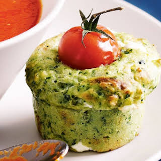 Spinach And Goat's Cheese Muffins.