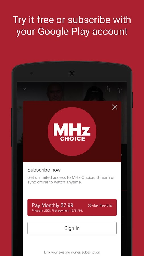 MHz Choice- screenshot
