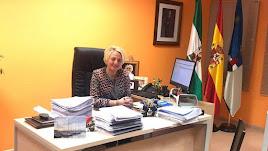 Eloisa Cabrera, este martes en su despacho en Roquetas.