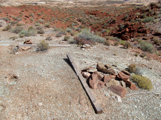 Relatively modern mining claim markers