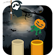 Catch the ghost to Halloween Icon