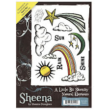 Sheena Douglass A Little Bit Sketchy A6 Stamp Set - Natural Elements UTGÅENDE