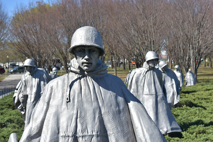 Korean Conflict Soldier sculptures