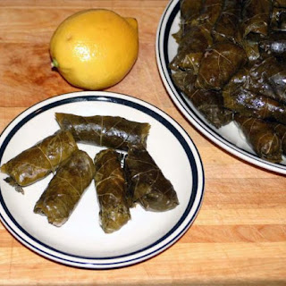 Hot Stuffed Grape Leaves