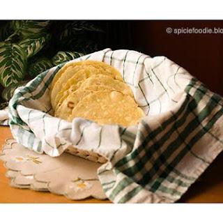 Corn Tortillas Made With Yellow Cornmeal Flour.