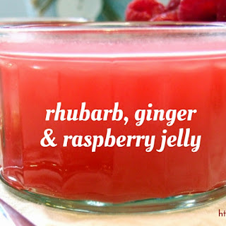 Rhubarb, Ginger & Raspberry Jelly.