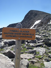 Photo: Self explanatory. A misstep could lead to a 1/4 mile long slide dropping steeply about 500' to the talus below.
