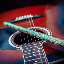 Guitar! by Doru Iachim - Artistic Objects Musical Instruments ( love, music, red, sound, guitar )