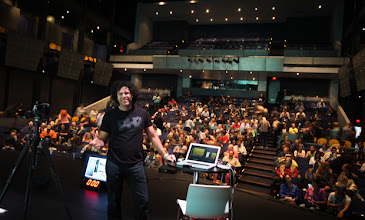 """Photo: That's Peter Hurley during his """"Art of the Headshot"""" presentation."""
