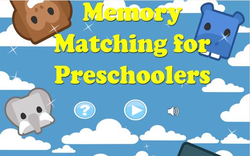 Memory Matching for Preschool