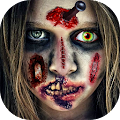 Zombie Face Booth Makeup