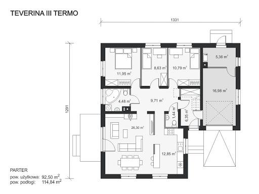 Teverina III Termo - Rzut parteru