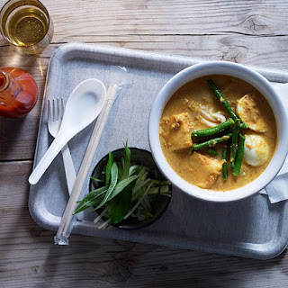 Laksa with Tofu, Eggs and Snake Beans Recipe