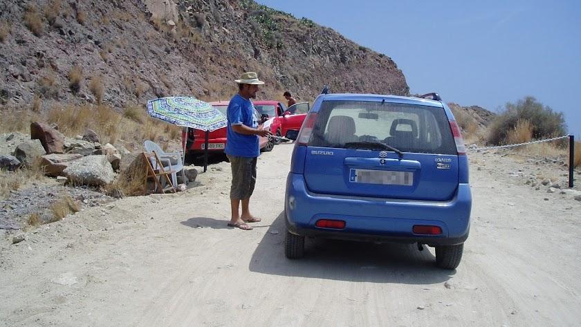 Punto de cobro instalado en 2011 en el camino de Ricardilo.