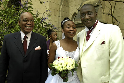 President Jacob Zuma at the wedding of his son Mxolisi Saady Zuma to Phindile Luthuli.