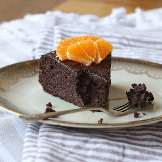 Mandarin Hazelnut Chocolate Cake.