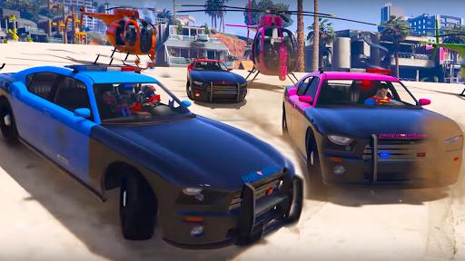 Superheroes Police Car Stunt Top Racing Games 1.0 screenshots 1