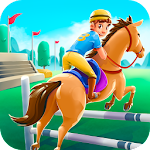 Cartoon Horse Riding - Derby Racing Game for Kids Icon