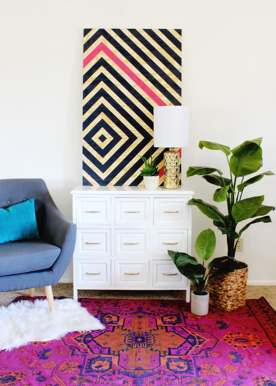 5 Painter's Tape Wall Ideas