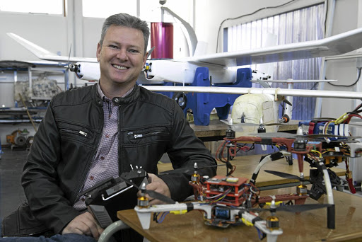 Say high: Damian Mooney is a specialist in autonomous aircraft at Nelson Mandela University.Picture: SUPPLIED