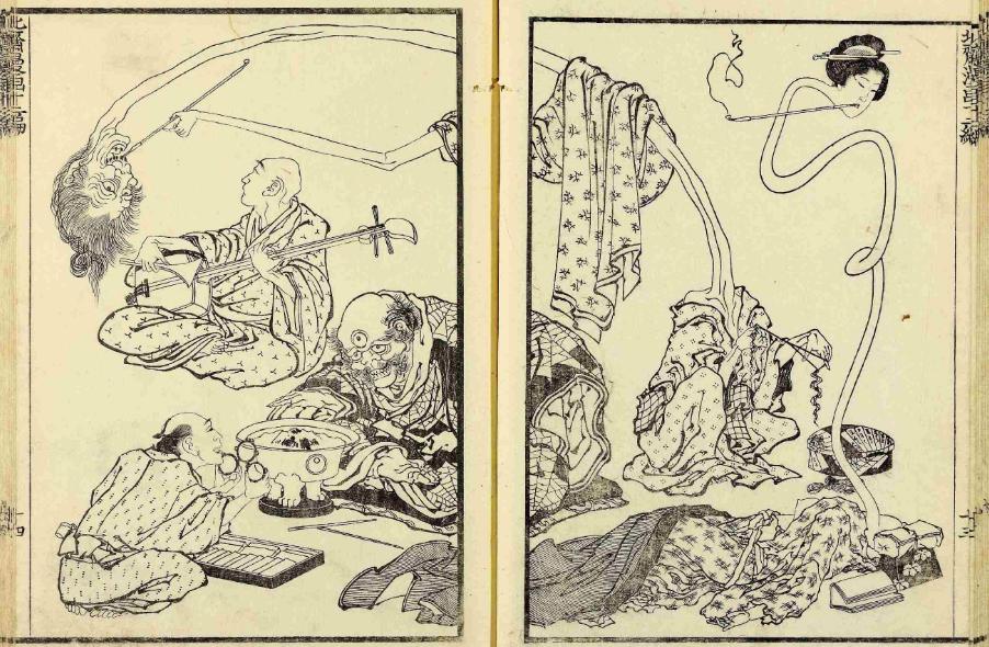 Hokusai manga de 1814.