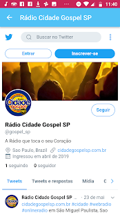 Rádio Cidade Gospel SP for PC-Windows 7,8,10 and Mac apk screenshot 3