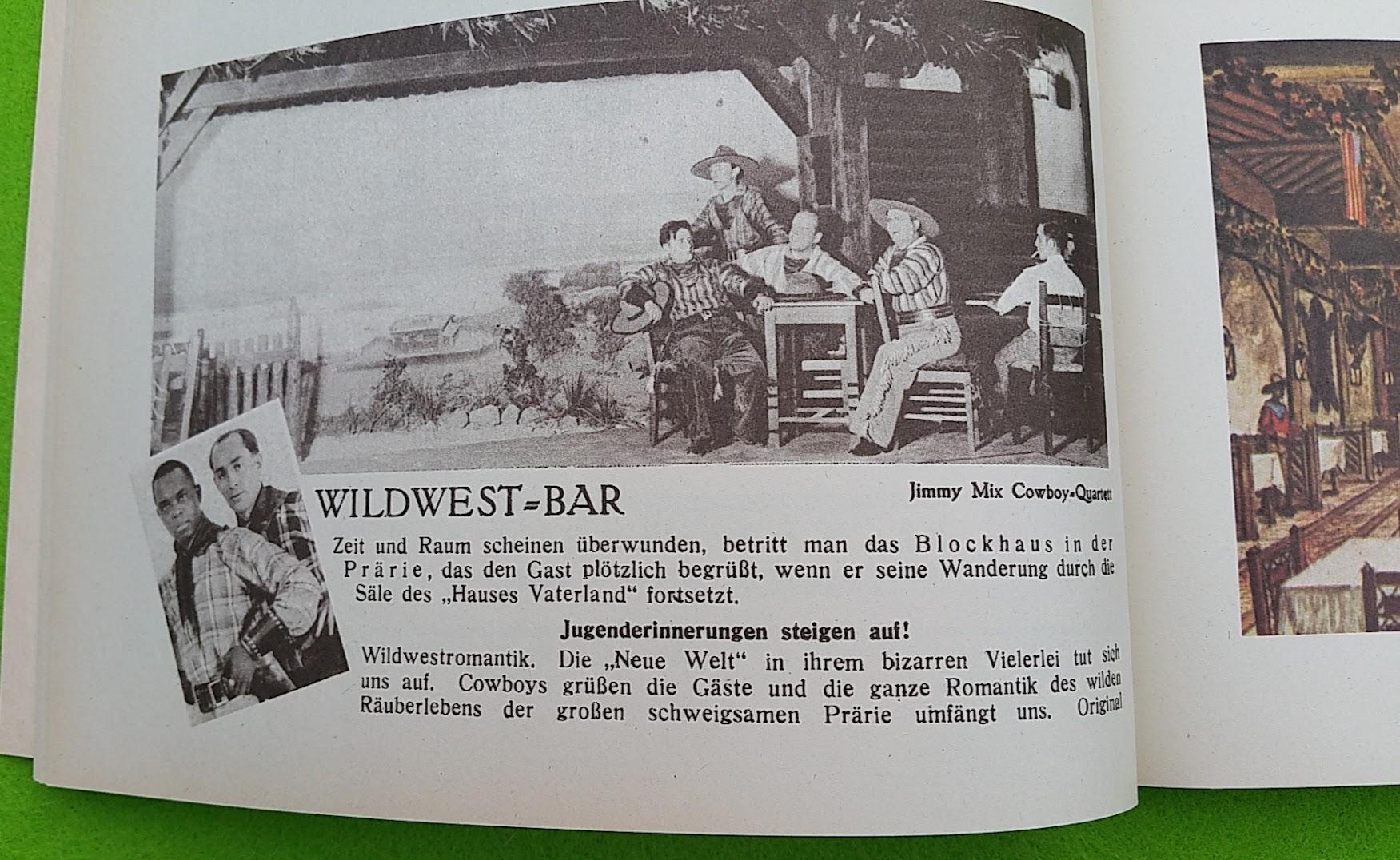 Begleitheft zur Eröffnung von Haus Vaterland am Potsdamer Platz, Berlin, 31. August 1928 - Widwest-Bar