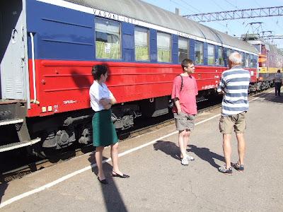 Ein Halt in Weißrussland - leider hatte ich es in Brest versäumt, zu fotografieren, obwohl wir dort einen sehr langen Stopp hatten.