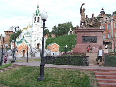 Das Minin-und-Poscharski-Denkmal in der Altstadt unterhalb des Kreml.