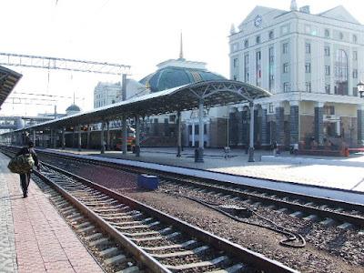 Das neue Bahnhofsgebäude von Krasnojarsk war 2006 fertig gestellt.