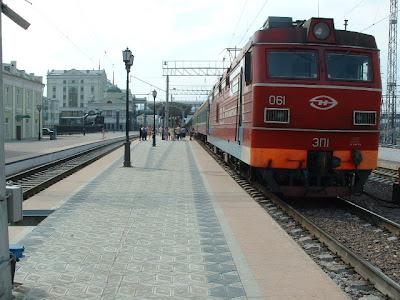 Irgendwann überquerten wir den Jennisej, den wasserreichsten Sibirischen Strom und rollten in Krasnojarsk ein.