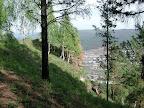 Ust-Kut: Blick vom bewaldeten Hang
