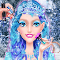 Ice Princess Make Up & Dress Up Game For Girls icon