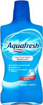 Aqua Fresh Daily Mouthwash - Mint, 500ml