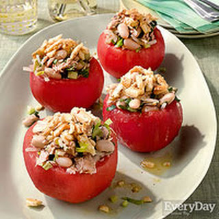 Beefsteak Tomatoes Stuffed with Tuna & White Beans