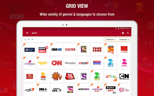 JioTV Live Sports Movies Shows Apps (APK) gratis downloade til Android/PC/Windows screenshot