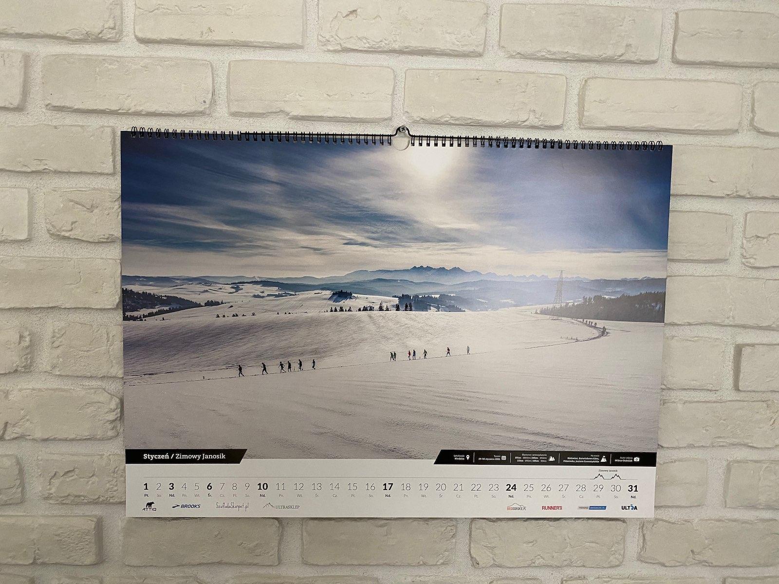 Kalendarz ścienny Ultratrail wymarzony prezent