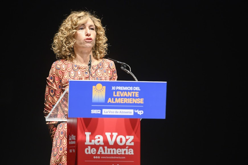 El Premio Empresa y Economía Levante 2020 es para la SAT 2503. de Antas. Recoge Isabel Alvargonzález, su presidenta.
