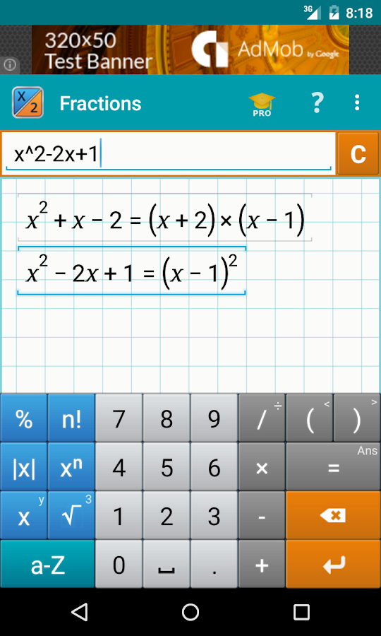 How do I have the answer on my calculator as a fraction?
