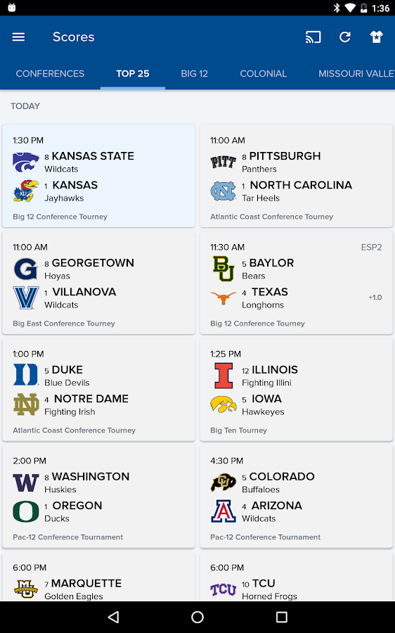 CBS Sports Scores, News, Stats- screenshot