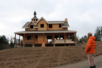 Photo: Christmas House, newly graded yard